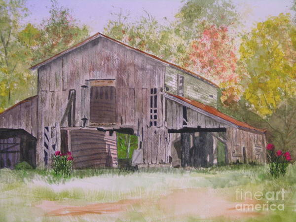 Fall Poster featuring the painting Nc Beauty by Peggy Dickerson
