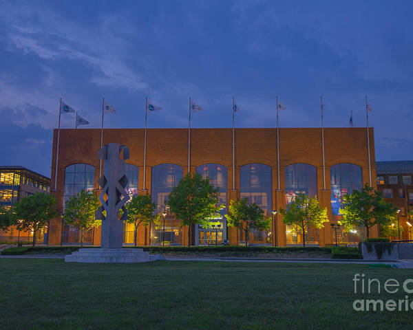 Indianapolis Poster featuring the photograph Ncaa Hall Of Champions May 2013 by David Haskett