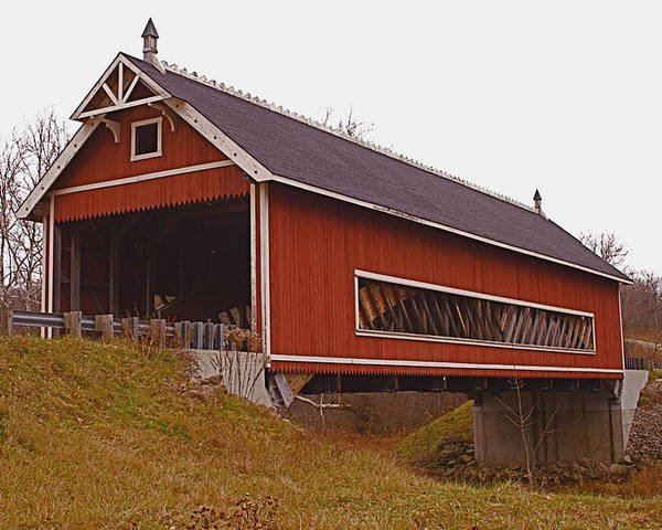 Ohio Poster featuring the photograph Netcher Road Covered Bridge by Jack R Perry