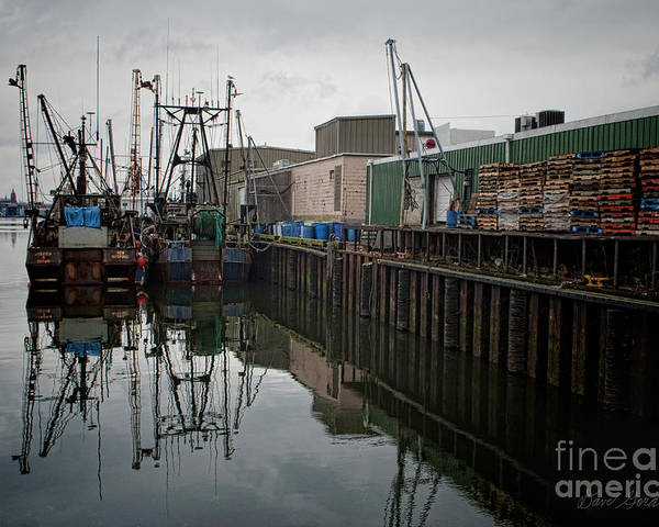 New Bedford Poster featuring the photograph New Bedford Waterfront No. 4 by David Gordon