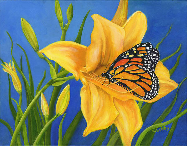Butterfly Poster featuring the painting New Beginnings by Mary Gehley