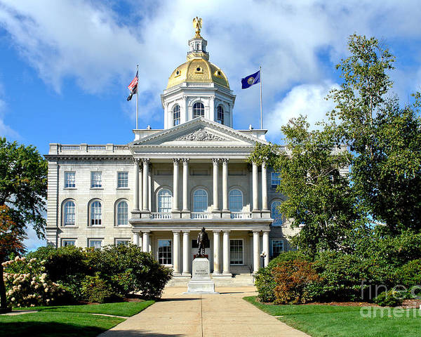 New Poster featuring the photograph New Hampshire State Capitol by Olivier Le Queinec