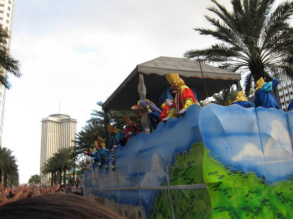 New Poster featuring the photograph New Orleans - Mardi Gras Parades - 121238 by DC Photographer