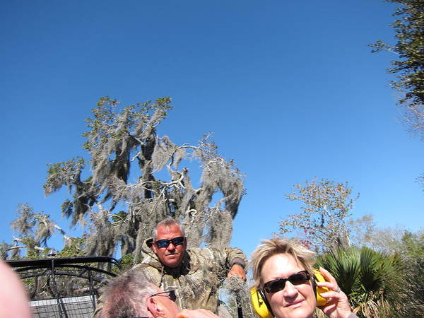 New Poster featuring the photograph New Orleans - Swamp Boat Ride - 121240 by DC Photographer