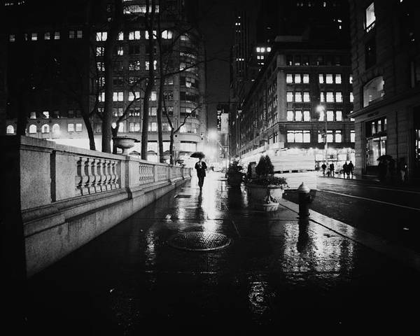 Nyc Poster featuring the photograph New York City - Night Rain by Vivienne Gucwa