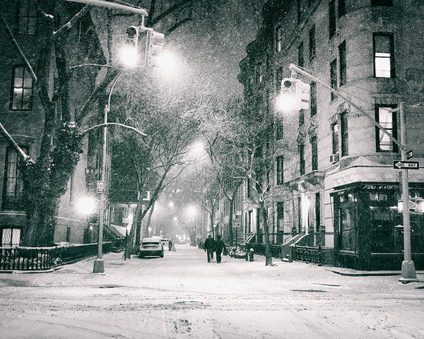 Nyc Poster featuring the photograph New York City - Winter Night In The West Village by Vivienne Gucwa