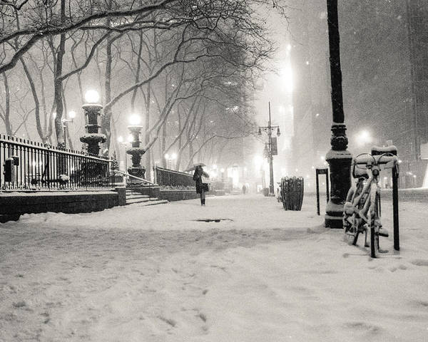 Nyc Poster featuring the photograph New York City Winter Night by Vivienne Gucwa