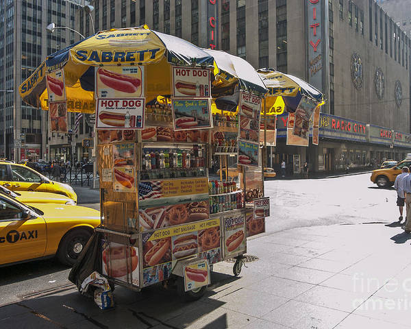 Hotdog Stand Poster featuring the photograph New York Hotdog Stand by Zbigniew Krol