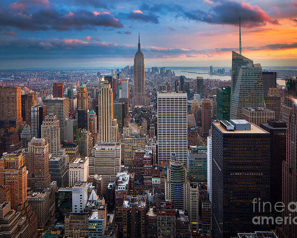 America Poster featuring the photograph New York New York by Inge Johnsson