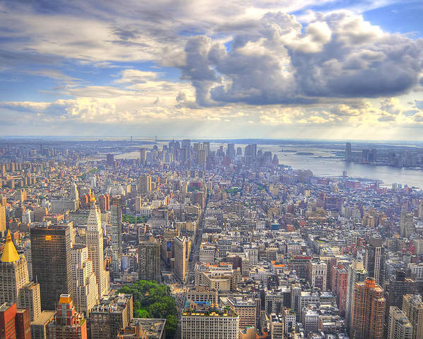 Hdr Poster featuring the photograph New York State Of Mind by Mandy Wiltse