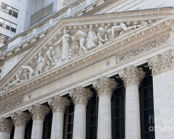 Clarence Holmes Poster featuring the photograph New York Stock Exchange I by Clarence Holmes