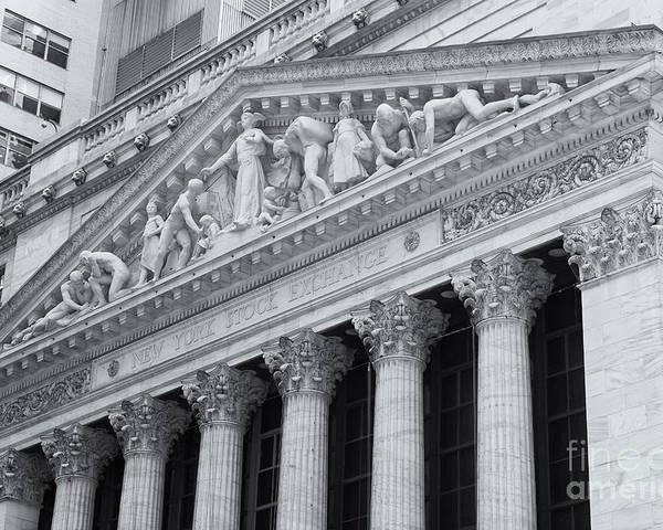 Clarence Holmes Poster featuring the photograph New York Stock Exchange II by Clarence Holmes