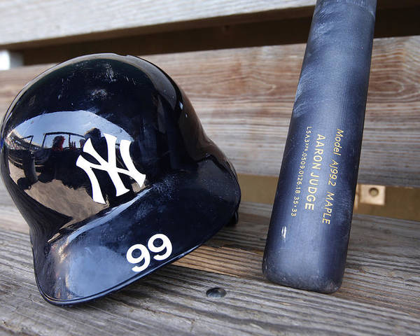 Headwear Poster featuring the photograph New York Yankees v Baltimore Orioles by Mike McGinnis
