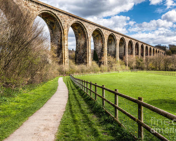 Arch Poster featuring the photograph Newbridge Viaduct by Adrian Evans
