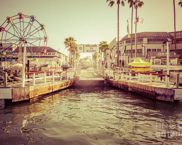 America Poster featuring the photograph Newport Beach Balboa Island Ferry Dock Photo by Paul Velgos
