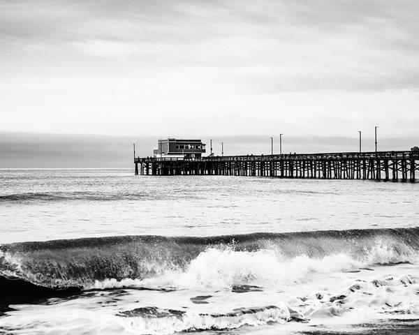 Newport Beach Poster featuring the photograph Newport Beach Pier by Paul Velgos