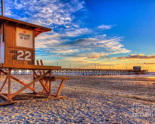 Pier Poster featuring the photograph Newport Beach Pier - Wintertime by Jim Carrell
