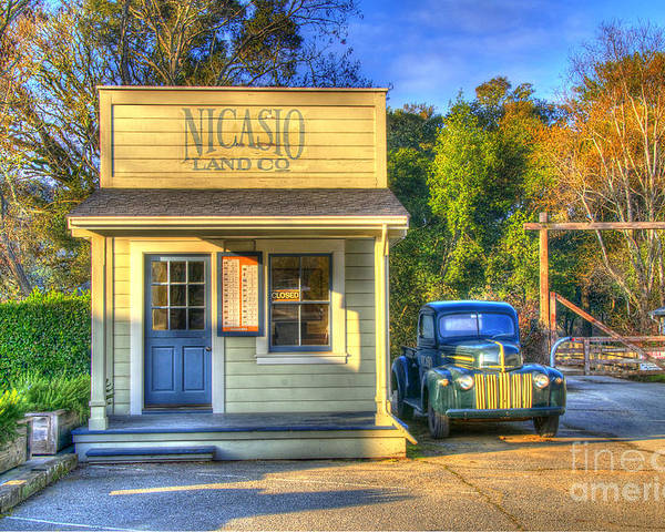 Landscape Poster featuring the digital art Nicasio Land Company by Alberta Brown Buller