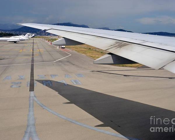 Aeroplane Poster featuring the photograph Nice Internationat Airport by Sami Sarkis