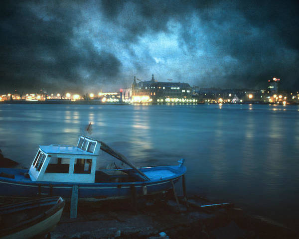 Seascape Poster featuring the photograph Night After Night by Taylan Apukovska