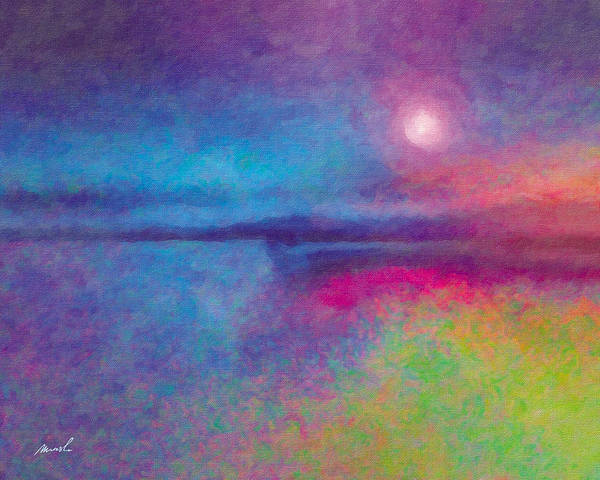 Night Poster featuring the painting Night Dream by The Art of Marsha Charlebois