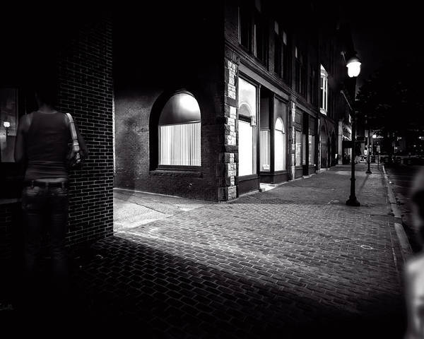 Night Poster featuring the photograph Night People Main Street by Bob Orsillo