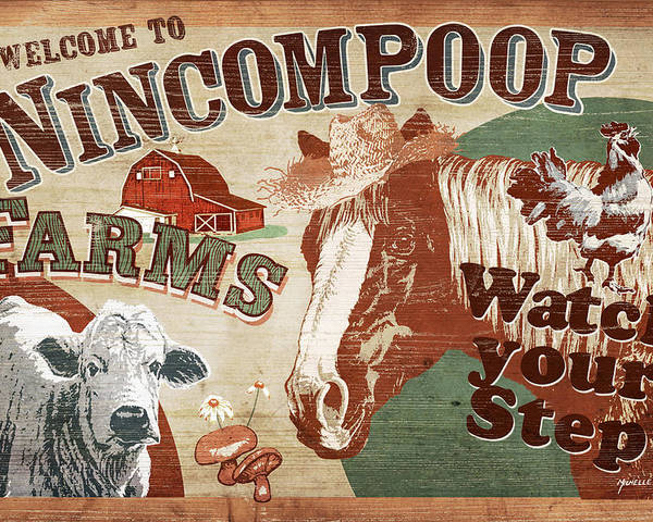 Joe Low Poster featuring the painting Nincompoop Farms by JQ Licensing