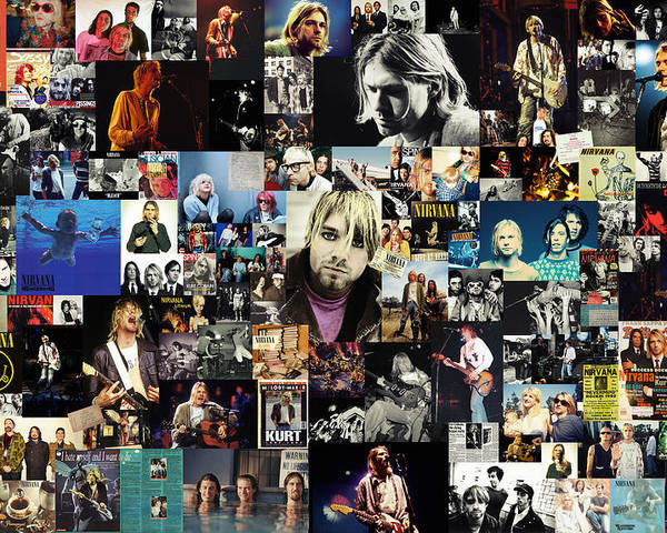 Nirvana Poster featuring the digital art Nirvana Collage by Taylan Apukovska