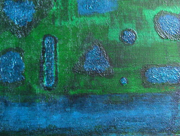 Abstract Poster featuring the painting No. 404 by Vijayan Kannampilly