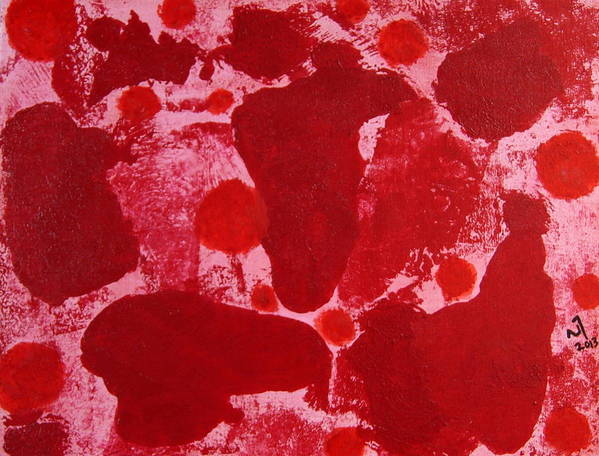 Abstract Poster featuring the painting No. 409 by Vijayan Kannampilly