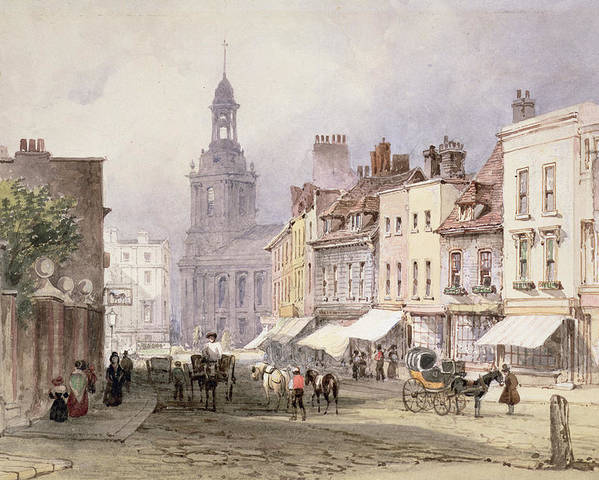 Street Poster featuring the drawing No.2351 Chester, C.1853 by William Callow