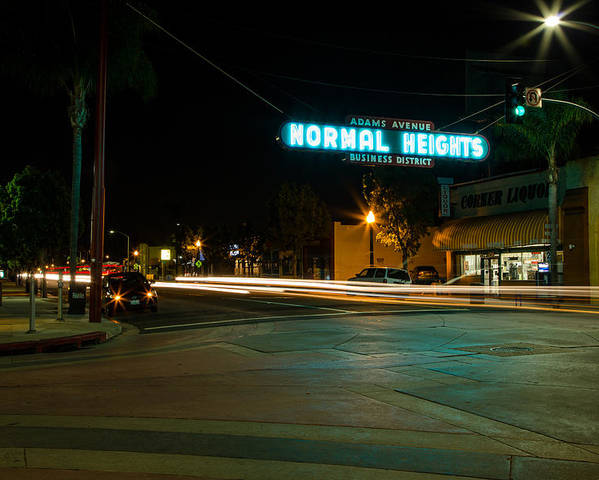 Normal Heights Poster featuring the photograph Normal Heights Neon by John Daly
