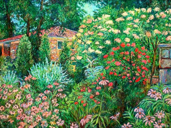 Garden Poster featuring the painting North Albemarle In Mclean Va by Kendall Kessler