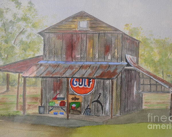 Barn Poster featuring the painting North Carolina Barn by Peggy Dickerson