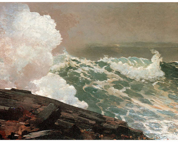 Winslow Homer Poster featuring the painting Northeaster by Winslow Homer