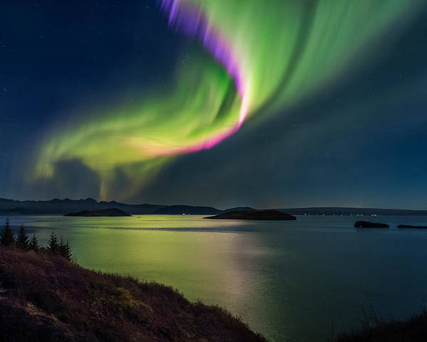 Photography Poster featuring the photograph Northern Lights Over Thingvallavatn Or by Panoramic Images