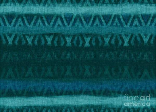 Northern Bay Poster featuring the tapestry - textile Northern Teal Weave by CR Leyland