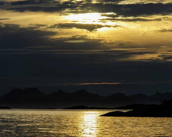 Dramatic Poster featuring the photograph Norway Dramatic Evening Light by Fredrik Norrsell
