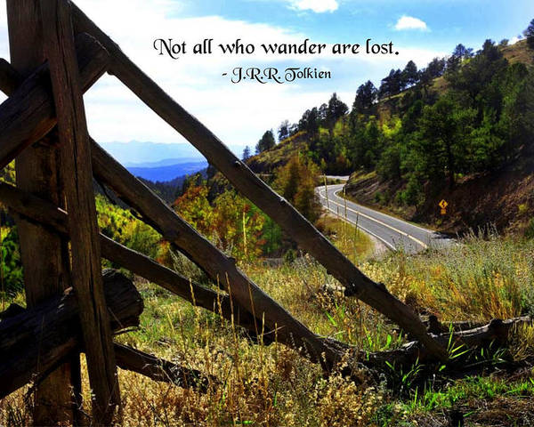 Quotation Poster featuring the photograph Not All Who Wander by Mike Flynn