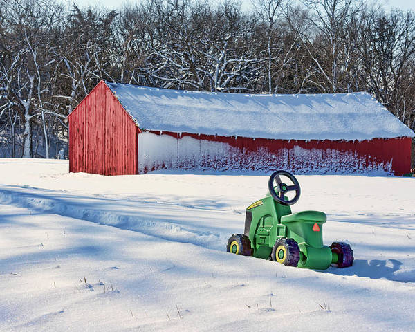 Loafing Sheds Poster featuring the photograph Nothing Runs Like A Deere #1 by Nikolyn McDonald