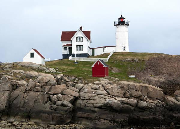 Cape Neddick Poster featuring the photograph Nubble Lighthouse Cape Neddick Maine 4 by Glenn Gordon