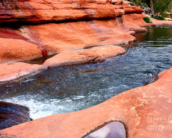 Sedona Poster featuring the photograph Oak Creek At Slide Rock by Carol Groenen