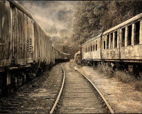 Train Poster featuring the photograph Oakmoor by Jason Green