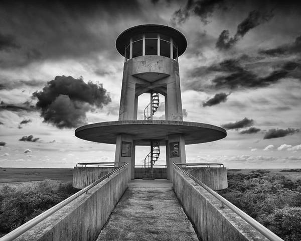Everglades Poster featuring the photograph Observation Tower by Raul Rodriguez