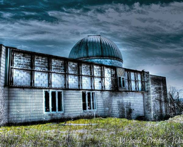 Hdr Poster featuring the photograph Observatory 7 by Michaela Preston