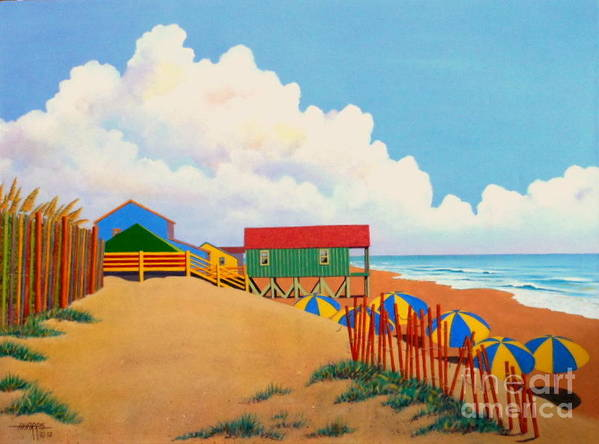 Beach Poster featuring the painting Obxtra by Hugh Harris