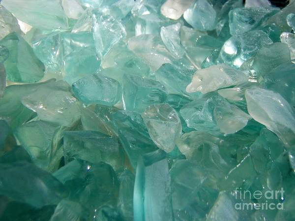 Ocean Sea Glass Teal Light Poster featuring the photograph Ocean Dream by Kristine Nora