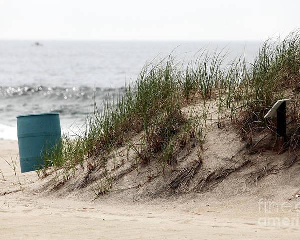 Ocean Grove Dune Poster featuring the photograph Ocean Grove Dune by John Rizzuto