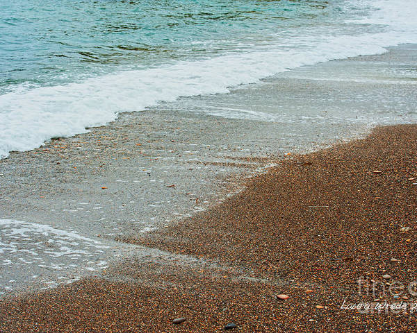 Ocean Poster featuring the photograph Ocean Wave Color Palette by Artist and Photographer Laura Wrede