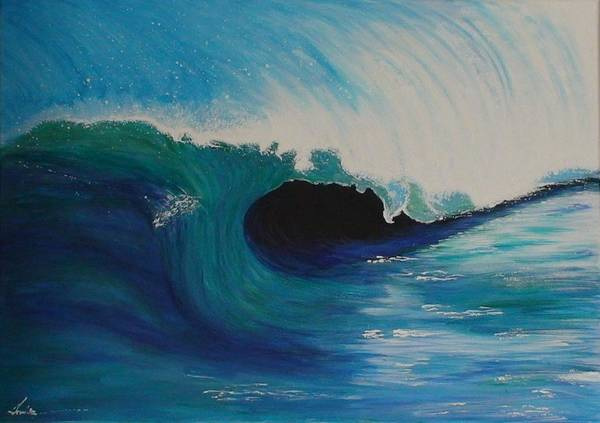 Poster featuring the painting Ocean Wave by Maia Oliver